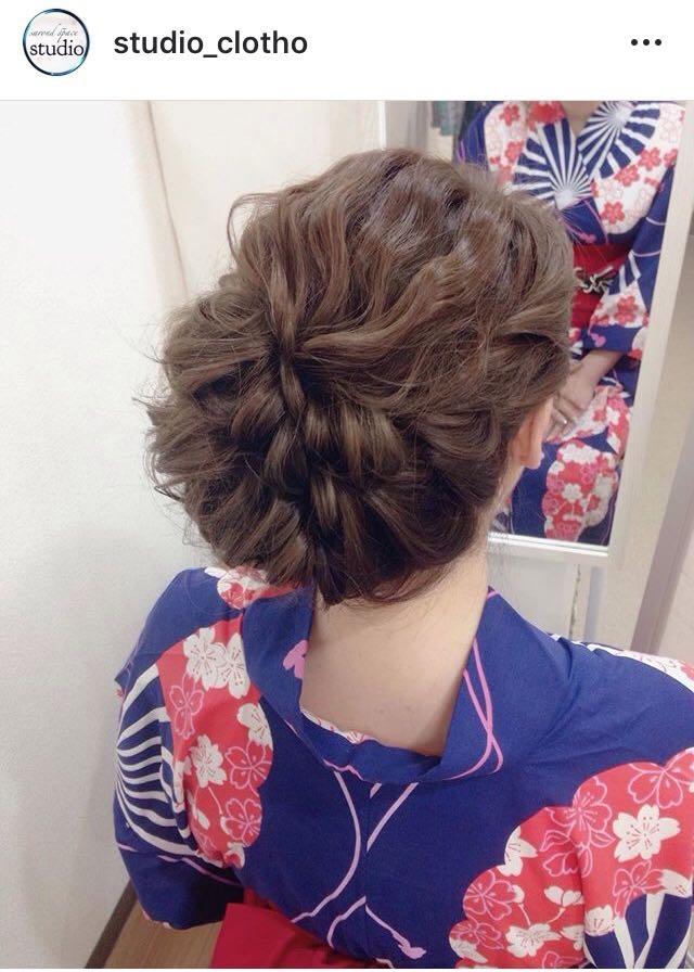 ヒロ(studio-clotho)さんのヘアスタイルの写真。テーマは『京都、祇園、kyoto、セットサロン、studioclotho、スタジオクロト、ヒロstudio、浴衣、浴衣ヘア、和装、ヘアアレンジ、ヘアメイク、アーティスト、美容師、ファッション、モデル、カメラ、おしゃれ、おしゃれさんと繋がりたい、アップスタイル、祇園祭り、イベント、パーティ』