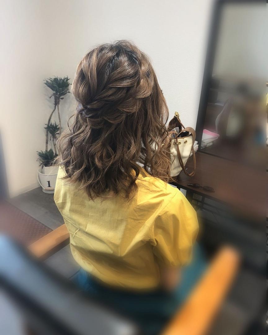 平原さんのヘアスタイルの写真。テーマは『宮崎市ヘアセット、宮崎市、ヘアセット専門店、セットサロン、ヘアセット、ヘアアレンジ、ハーフアップ、ボブアレンジ、ブライダルヘア、編み込みアレンジ、アレンジ、ボブヘアアレンジ、編み込みヘア、宮崎、hairset、宮崎セット、hairarrange、宮崎美容室、宮崎市STELLA、宮崎市セットサロン、編み込み、宮崎市成人式、宮崎県、ハーフアップアレンジ、宮崎市セット、アレンジヘア、宮崎市ステラ、宮崎ヘアセット、宮崎市結婚式、宮崎市美容室』