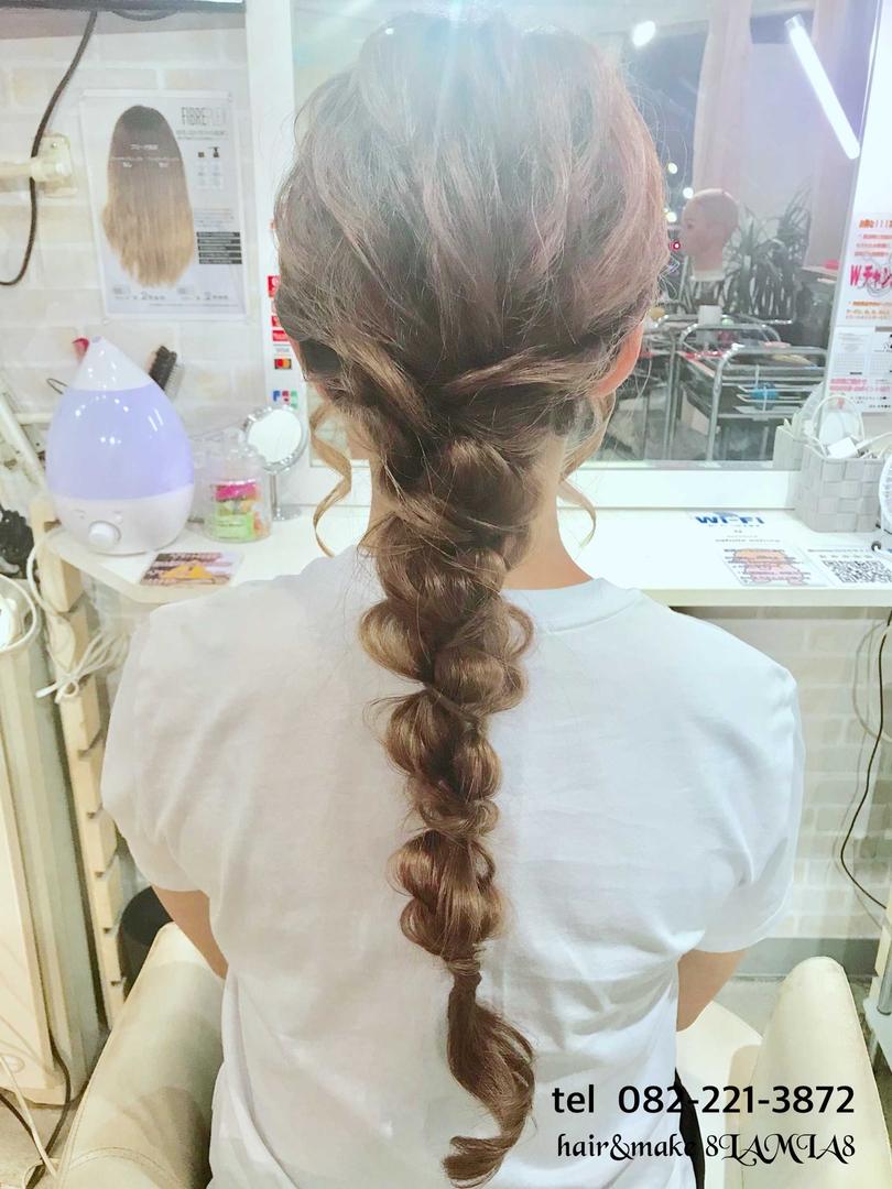hair&make 8LAMIA8(ラミア)さんのヘアスタイルの写真。テーマは『広島、8LAMIA8、美容院、ヘアカラー、ヘアエクステ、ヘアセット、ヘアアレンジ、メイク、編み込みエクステ、シールエクステ、JHSS広島校、ヘアメイクスクール、24時迄営業の美容室、広島市中区、広島美容室、広島市、ディスコネクション、メンズ、令和、託児サービス、駐車料金サービス』