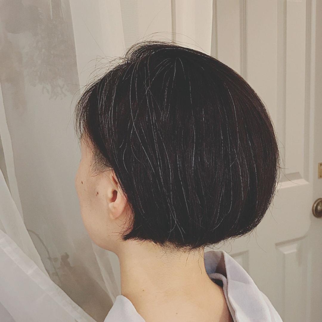 浦川 由起江さんのヘアスタイルの写真。テーマは『ツーブロックボブ、ツーブロック、ボブ、黒髪ボブ、プライベートサロン、nanon』