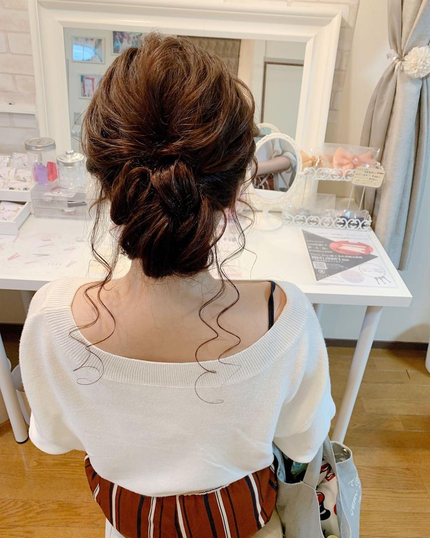 Moriyama  Mamiさんのヘアスタイルの写真。テーマは『福岡ヘアセット、天神、ヘアアレンジ、ヘアセット、Threekeys、スリーキーズ、着物、福岡ヘアサロン、ブライダル、結婚式、ブライダルヘア、花嫁、着付け、着物ヘア、和装ヘア、プレ花嫁、ヘアセット専門店、和装ヘアアレンジ、女子会、オトナ女子、着物レンタル、結納、働く女子、前撮り、お呼ばれヘア、ロング、ロングヘアアレンジ、浴衣ヘア、浴衣ヘアアレンジ、ゆるふわアレンジ』