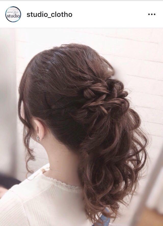 ヒロ(studio-clotho)さんのヘアスタイルの写真。テーマは『京都、祇園、kyoto、セットサロン、studioclotho、スタジオクロト、ヒロstudio、プライベートサロン、ヘアアレンジ、ヘアメイク、アーティスト、美容師、ファッション、モデル、カメラ、ナチュラル、ルーズ、エアリー、かわいい、おしゃれ、ポニーテール、編み込み、ブライダル、結婚式、イベント、パーティ』