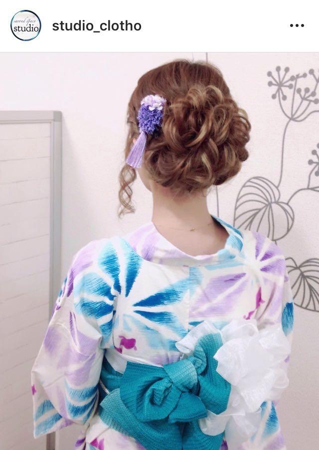 ヒロ(studio-clotho)さんのヘアスタイルの写真。テーマは『京都、祇園、kyoto、セットサロン、studioclotho、スタジオクロト、ヒロstudio、浴衣、浴衣ヘア、和装、ヘアアレンジ、ヘアメイク、アーティスト、美容師、ファッション、モデル、カメラ、おしゃれ、おしゃれさんと繋がりたい、アップスタイル、編み込み、夏祭り、花火、イベント、パーティ』