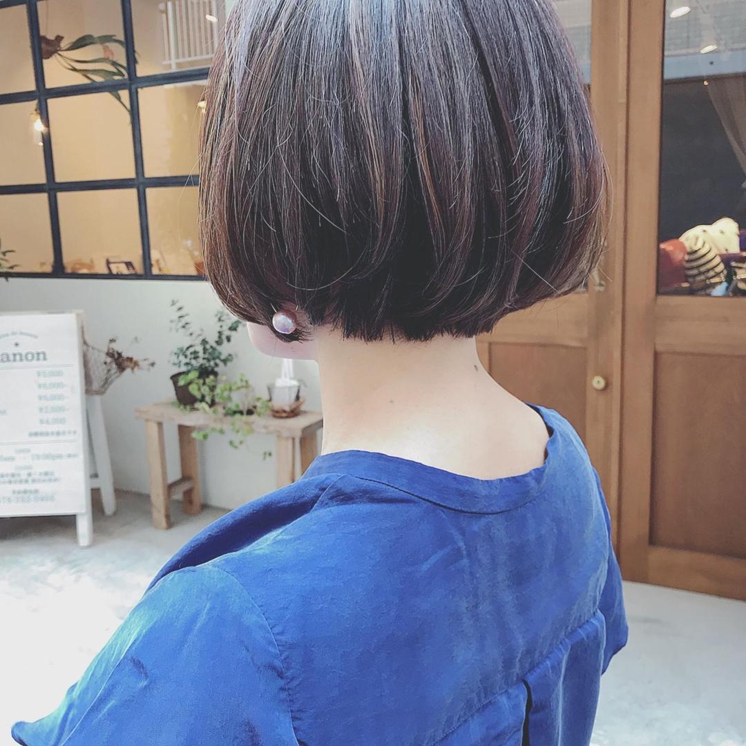 浦川 由起江さんの写真。テーマは『ボブ、ハイライト、ショートボブ、プライベートサロン、nanon』