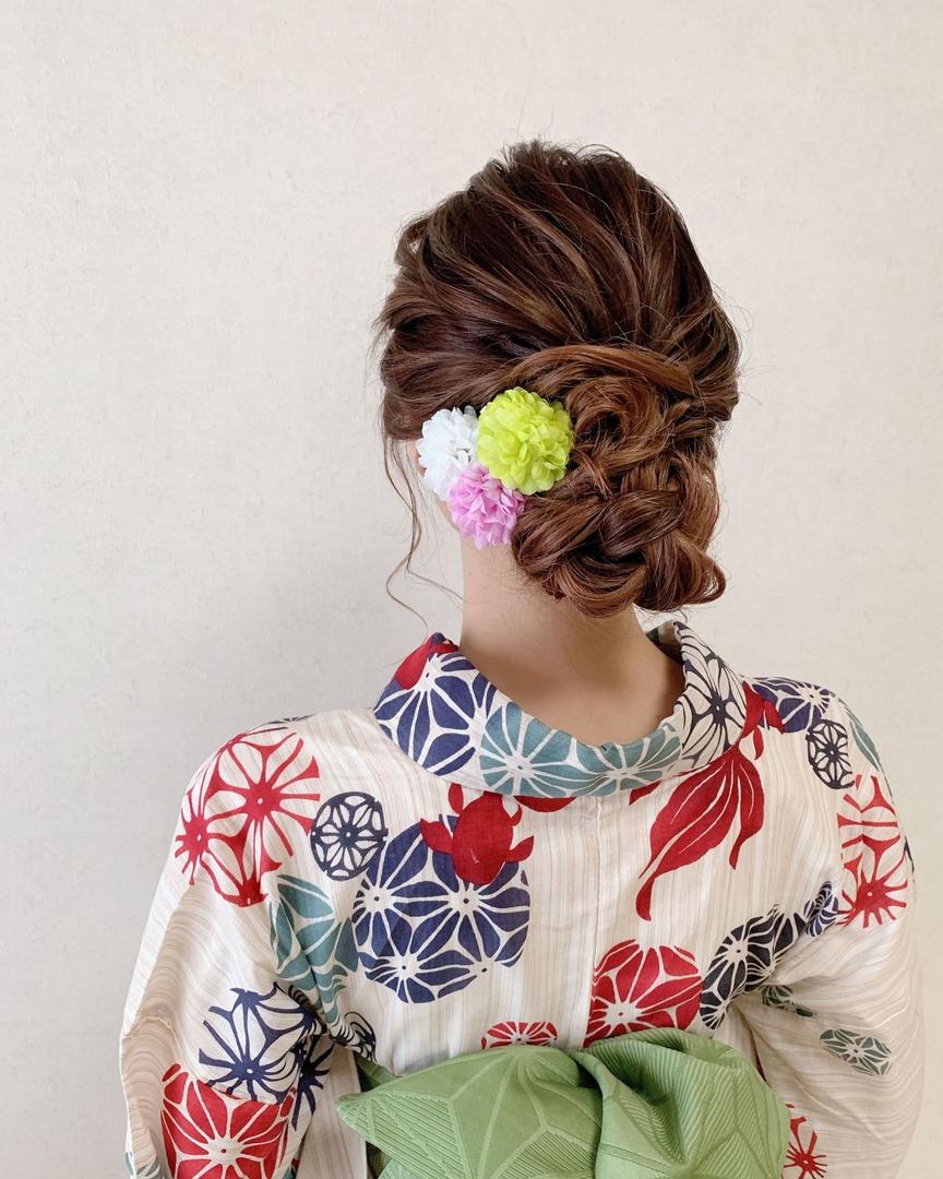 Moriyama  Mamiさんのヘアスタイルの写真。テーマは『ミディアムロング、ミディアムアレンジ、大人スタイル、着物女子、福岡ヘアセット、天神、ヘアアレンジ、ヘアセット、アップスタイル、浴衣ヘア、Threekeys、スリーキーズ、着物、福岡ヘアサロン、ブライダル、結婚式ヘアアレンジ、ブライダルヘア、花嫁、着付け、着物ヘア、和装ヘア、プレ花嫁、ヘアセット専門店、和装ヘアアレンジ、女子会、オトナ女子、着物レンタル、前撮り、結婚式お呼ばれヘア、早朝ヘアセット』