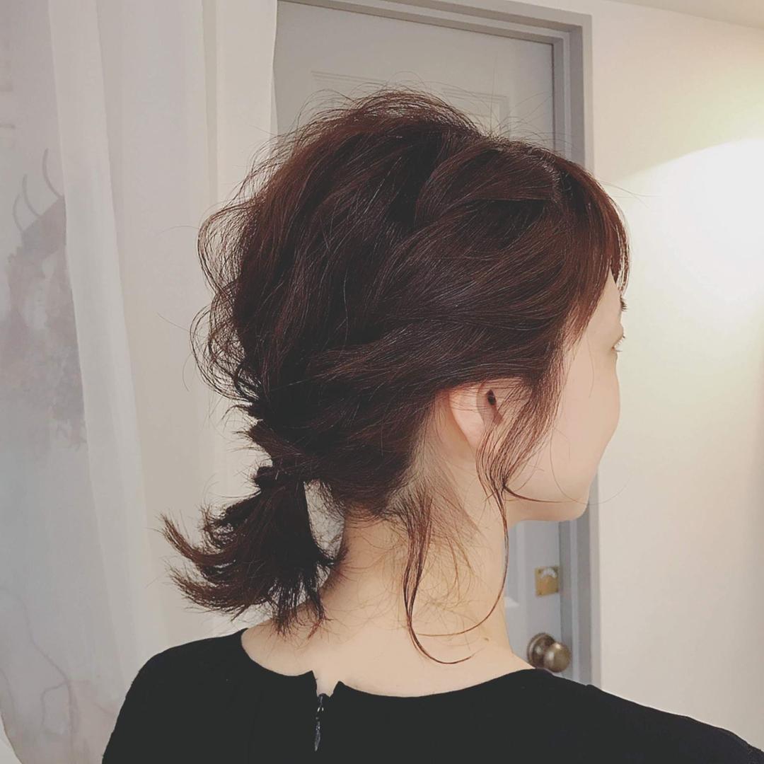 浦川 由起江さんのヘアスタイルの写真。テーマは『ボブアレンジ、ヘアアレンジ、列席ヘア、プライベートサロン、nanon』
