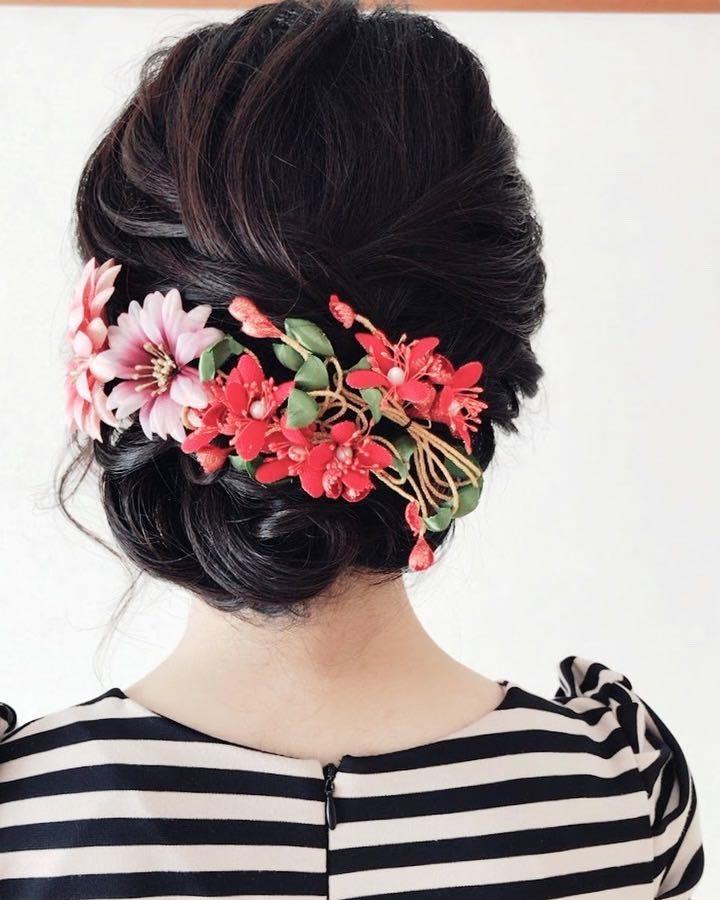 Moriyama  Mamiさんのヘアスタイルの写真。テーマは『福岡ヘアセット、天神、ヘアアレンジ、ヘアセット、Threekeys、スリーキーズ、着物、夜会巻き、福岡結婚式、結婚式、親族衣装、七五三ママ、着付け、着物ヘア、和装ヘア、プレ花嫁、ヘアセット専門店、和装ヘアアレンジ、訪問着ヘア、オトナ女子、着物レンタル、結納、前撮り、お呼ばれヘア、結婚式お呼ばれ、シニヨンアレンジ、面スタイル、艶、留袖、振袖ヘア』