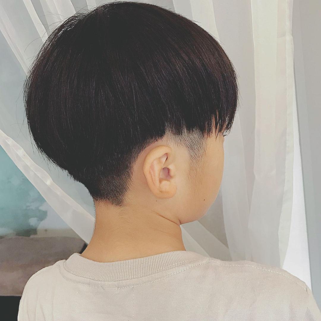 浦川 由起江さんのヘアスタイルの写真。テーマは『キッズヘア、ツーブロック、プライベートサロン、nanon』