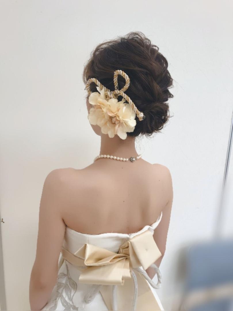 平原さんのヘアスタイルの写真。テーマは『宮崎市ヘアセット、宮崎市、ヘアセット専門店、セットサロン、ヘアセット、ヘアアレンジ、アップヘア、白ドレスヘア、披露宴ヘアスタイル、宮崎ウェディング、ブライダルヘア、披露宴ヘア、結婚式ヘアアレンジ、結婚式ヘア、白ドレス、結婚式ヘアスタイル、結婚式髪型、宮崎、hair、hairset、hairstyle、hairarrange、宮崎県、宮崎市STELLA、宮崎市ステラ、宮崎市セット、宮崎市出張ヘアメイク、挙式ヘアスタイル、結婚式、宮崎市美容室』