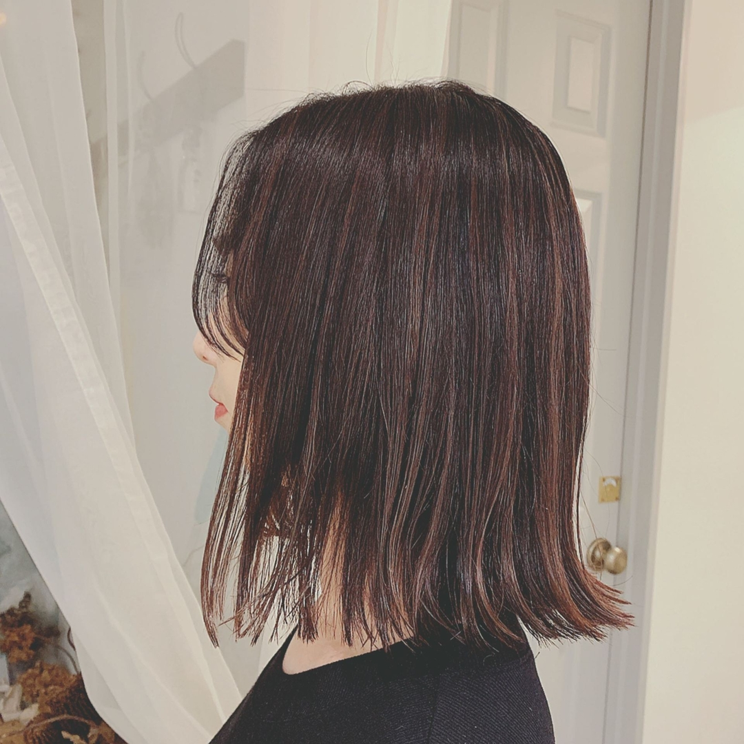 浦川 由起江さんのヘアスタイルの写真。テーマは『ハイライト、ボブ、外国人風カラー、ダークアッシュ、プライベートサロン、nanon』