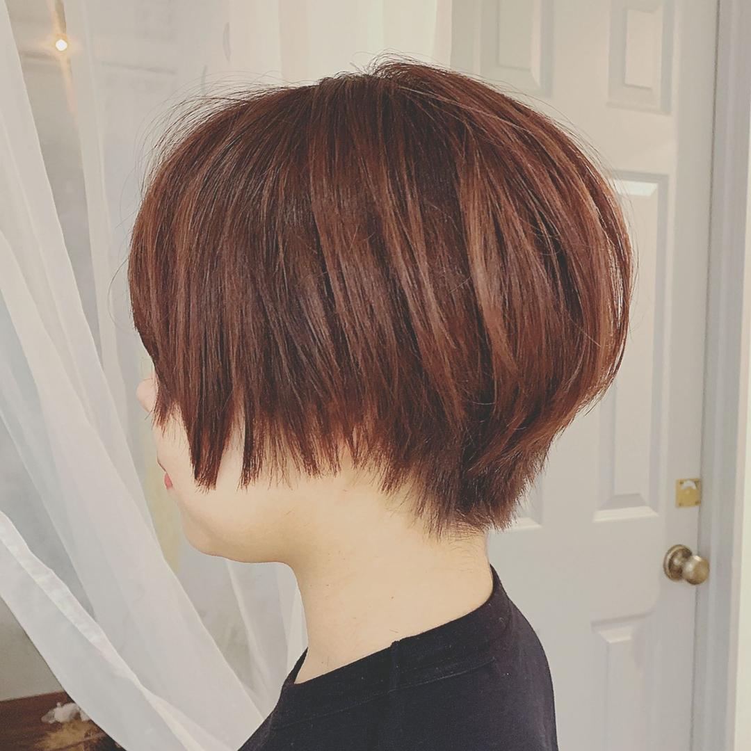 浦川 由起江さんのヘアスタイルの写真。テーマは『ハンサムショート、ショートヘア、プライベートサロン、nanon』