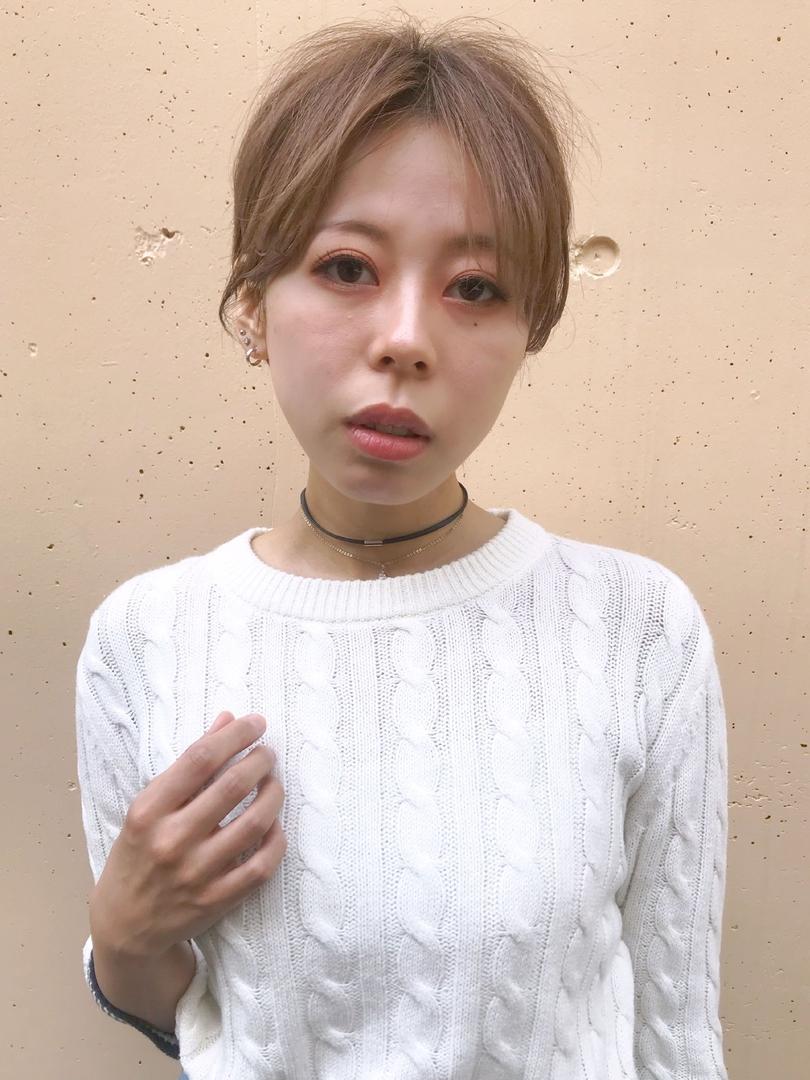 日平  海さんのヘアスタイルの写真。