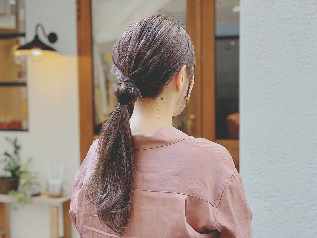 浦川 由起江さんのヘアスタイルの写真。テーマは『ヘアアレンジ、ローポニーアレンジ、ポニーテール、プライベートサロン、nanon』