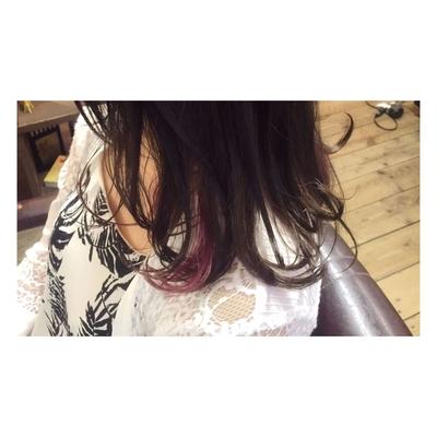 #インナーカラー#ピンク#バイオレット#秋カラー#anello#福岡 #今泉anello