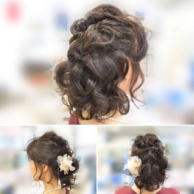 大井町の美容院・美容室・ヘアサロン! ヘアメイクナフィーズです  結婚式二次会用 ふんわりアップスタイル くるりんぱ後れ毛仕上げ! ご用意して頂いた髪飾りを付けて 可愛く仕上がりました #ヘア #ヘアスタイル #HAIRMAKEnafees #ナフィーズ #大井町の美容院美容室ヘアメイクナフィーズ #大井町の美容院 #大井町の美容室#アップ#アップスタイル#ヘアセット#クルリンパ#くるりんぱ#アイロン#後れ毛#結婚式#結婚式二次会#お呼ばれヘア#ふんわり