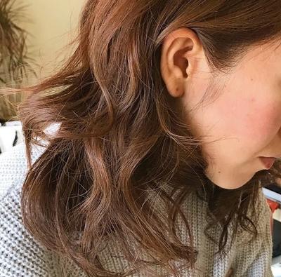 #耳かけ #巻き髪  #ミディアム #32mm #褒められ髪