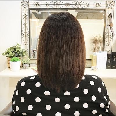 50代の髪質が高いクオリティー #ボブ #褒められ髪 #ハホニコ #ハホニコリタ#オトナ可愛い