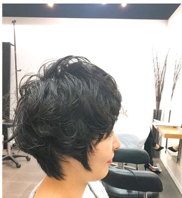#表参道 #美容室 #美容院 #ショートヘア #ショート #黒髪 #パーマ #パーマスタイル #ゆるふわ