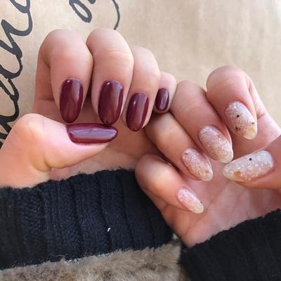 #nail#nails#nailart#nailist#rellsea#ネイル#ジェルネイル#ワンカラー#ホワイトオニキス#左右非対称#リルシー#狭山市#プライベートサロン#海を感じるインテリア