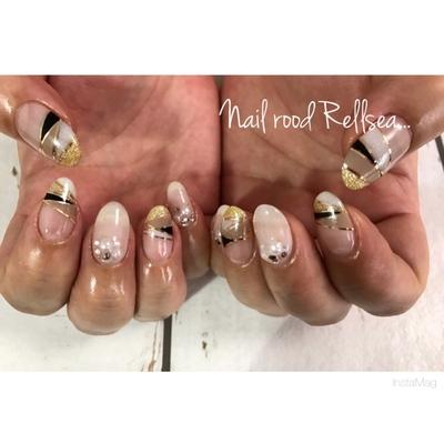 #jel#nail#nailist#nails#nailart#ジェルネイル#フレンチ#ラインテープ#ワンカラー#