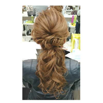 #ヘアアレンジ#ナチュラル#美容室#美容師#ヘアセット#カジュアル#hairarrange#二次会ヘアセット#hair#hairstyle#arrange