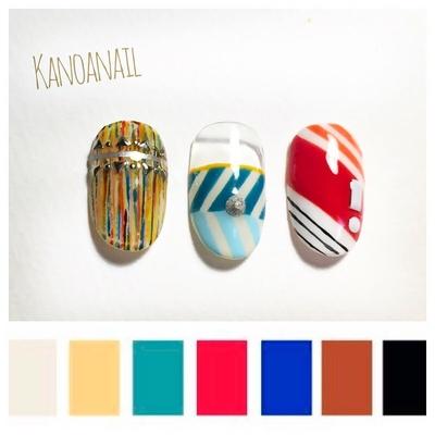 トレンドカラー2017SS② ビビットカラー アフリカンファッションには鮮やかカラーがぴったりです * * #nail #nails #nailart #naildesign  #instanails #handpainted  #2017SS #trendcolor #vivid #fashion  #ABgel #ABconcierge #nailsalon #kanoanail #naildesigner #tocco #ネイル #ネイルアート #ネイルデザイン #ハンドペイント #トレンドカラー #ビビットカラー #春夏ネイル  #ファッション #アフリカン #美甲 #ネイルサロン #西麻布ネイル #プライベートサロン  #カノアネイル