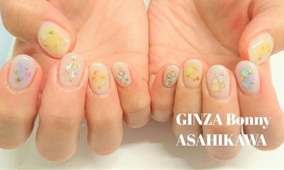 透け感アリな爽やかシースルーネイル。・:+° #ネイル#ジェルネイル#ジェルネイルサロン#nail#nailart#nails#naildesign#instanails#instanail#しぇあねいる#springnail#旭川ネイル#旭川ジェルネイル#Bonny