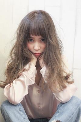 ショートアシメバング! ロングでも可愛い前髪  #umisalon #umi #美容室 #モデル #ネモカラー #ネモカール #ネモカット #ロング #アッシュグレー #サロモ #透明感