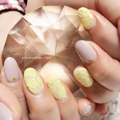 #お客様ネイル#nail#nailart#gel #マット#レース#フラワー#kawaii #simple#大人ネイル#大人可愛い #Nailbook#tredina#spring#design #奈良#お家ネイル#自宅サロン#Luce.