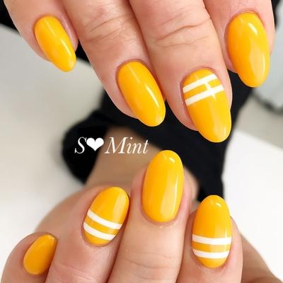 八王子ネイルサロンエスミントです! シンプル〜トレンドデザインまでたくさんご用意しています!  #nails#nail#gelnail#nailsalon#nailstagram#nailart#naildesign#nailartist #instagood#instanails#ジェル#美甲#美爪#ジェルネイル#ネイルアート#八王子ネイルサロン#エスミント#大野早紀#春ネイル#夏ネイル#パールネイル#大人ネイル#上品ネイル#黄色ネイル#ポップネイル#スポーティ