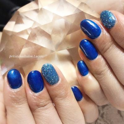 . #お客ネイル#nail#nailart#gel #ワンカラー#ラメ#ショートネイル #Nailbook#tredina#nailstagram  #奈良#お家ネイル#自宅サロン#Luce.