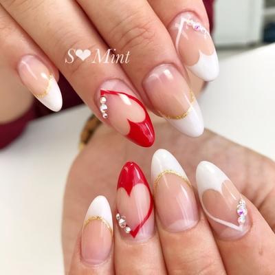 八王子ネイルサロンエスミントです! シンプル〜トレンドデザインまでたくさんご用意しています!  #nails#nail#gelnail#nailsalon#nailstagram#nailart#naildesign#nailartist #instagood#instanails#ジェル#美甲#美爪#ジェルネイル#ネイルアート#八王子ネイルサロン#エスミント#大野早紀#春ネイル#夏ネイル#パールネイル#ビジューネイル#大人ネイル#上品ネイル#ハートフレンチ#ハート