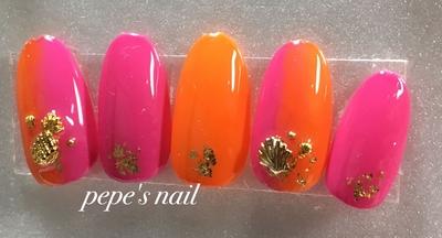 #pepesnail #nail#nailart #サンプル#ネイルサンプル#サンプルチップ#夏デザイン#フットネイル#ハンドネイル#ジェルネイル