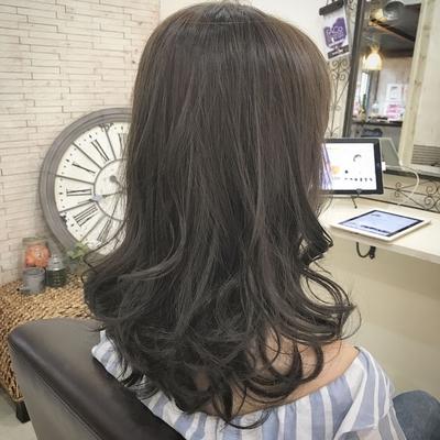 #暗髪 #巻き髪  #ネイビーアッシュ #福岡美容室 #トレンド #カラー