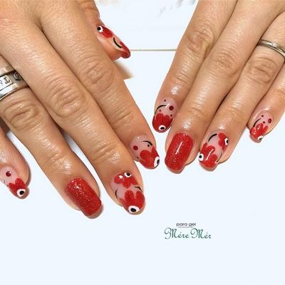 #Japanesenailart #nails #お花 #トレンド #ネイル #お花#マリメッコ#クリア