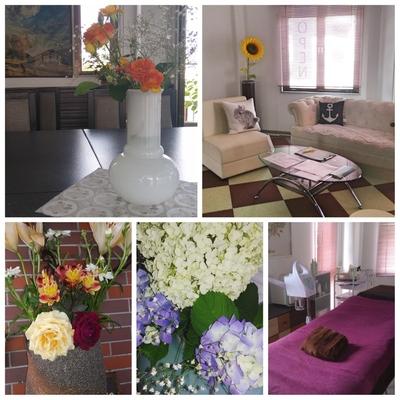 サロンにはお花がいっぱい #お花#フェイシャルエステ#フェイシャルエステサロンRabbit#京都#京丹波