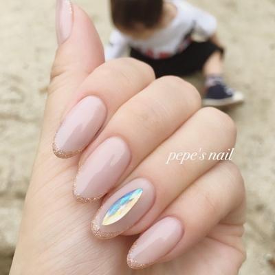 #pepesnail #nail #nailart #nailstagram #gelnail #nails #mynail #mynails #newnail #paragel #pregel#calgel#ネイル #ネイルアート #フェアリーストーン#バーチャルフレンチ#ラメフレンチ#自爪