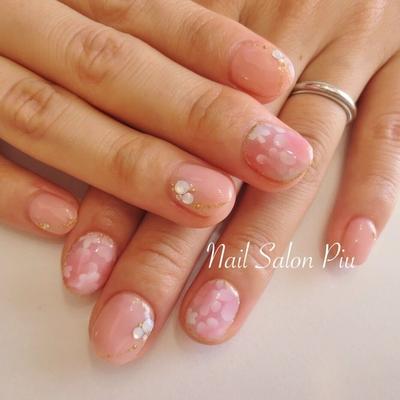 #フラワー #ピンクネイル  #大人可愛い #ブライダルネイル