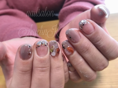 #nails#東広島#東広島ネイル#nailart#AnjelinK#個性的ネイル