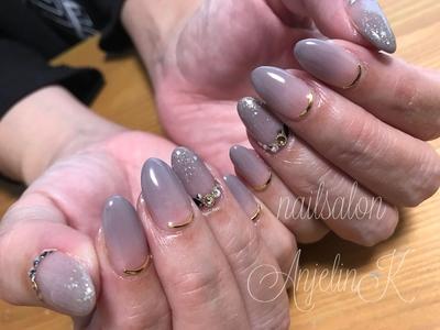 #オフィスネイル#シンプルネイル #nails#AnjelinK#東広島#東広島ネイル#東広島ネイルサロン#グラデーションネイル