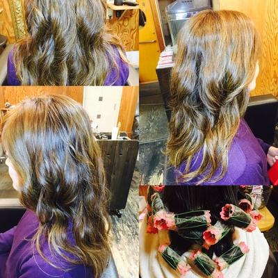 太く硬い髪もクリープパーマでゆるパーマ٩( ᐛ )و やんわり仕上がりまーす٩( ᐛ )و #クリープパーマ #ミディアム #ロング #自然なツヤ #大人綺麗 #大人かっこいい #ふわっとエアリー #ミシックオイル #ノティオクリーム #今日も1日ありがとうございます