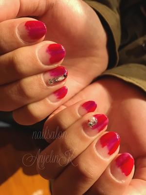 塗りかけ♡ #AnjelinK#時短ネイル#nails#東広島#東広島ネイル