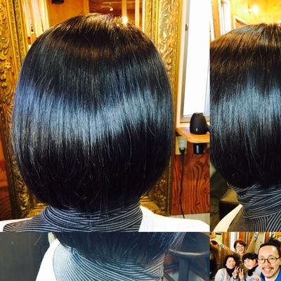 髪ツヤツヤ 軽めのボブに プラス デコンプレッションで 髪もココロもカラダも軽ーく٩( ᐛ )و #ボブ #大人ショート #今日も1日ありがとうございます #デコンプレッション #decompression #直傳靈氣 #jikidenreiki #reiki #レイキ #癒し