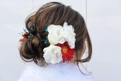 成人式🎊 生花を使って、ギブソンタック✨ #ヘアアレンジ #成人式