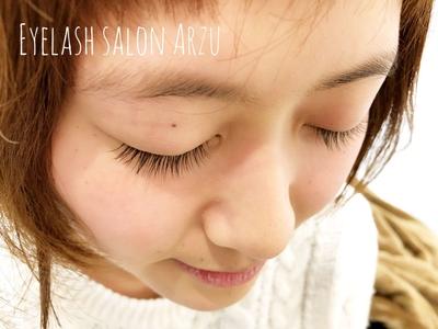 自まつ毛にマスカラを塗ったくらいのナチュラルデザイン♡♡ J カール 8~9mm