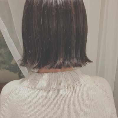 #暗髪 #切りっぱなし  #外ハネ