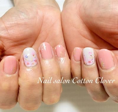 桜ネイル💅 #ピンクネイル #八戸ノ里ネイルサロン #nail #桜ネイル #大人ネイル