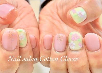 新色で、桜ネイル🌸 #春ネイル #桜ネイル #小阪ネイルサロン #八戸ノ里ネイルサロン #ピンクネイル #nail #ワンカラー #ネイルアート #フラワーネイル