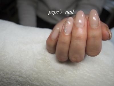 上品なシンプルグラデーション♡ ・ #pepesnail #nail #nailart #nailstagram #gelnail #nails  #paragel #pregel#vetro#bellaforma #handnail#ネイル #ネイルアート #ハンドネイル #春ネイル#シンプルネイル#オフィスネイル#グラデーション#自宅ネイル#大分市