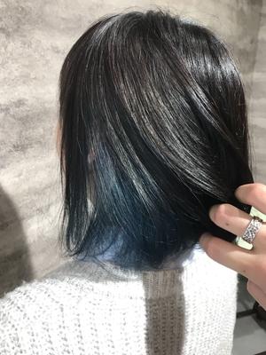 キャンディーカラー/インナーブルー  #美容室浜松 #浜松 #美容師 #美容室 #イルミナカラー #アディクシーカラー #グレージュ  #グラデーション  #バレイヤージュ #ハイライト #外国人風カラー #ダブルカラー #デザインカラー #モロッカンオイル   #テールカラー  #ヘアーブランコ #hairblanco浜松 #カフェ #likes #青空  #instalike #instagood